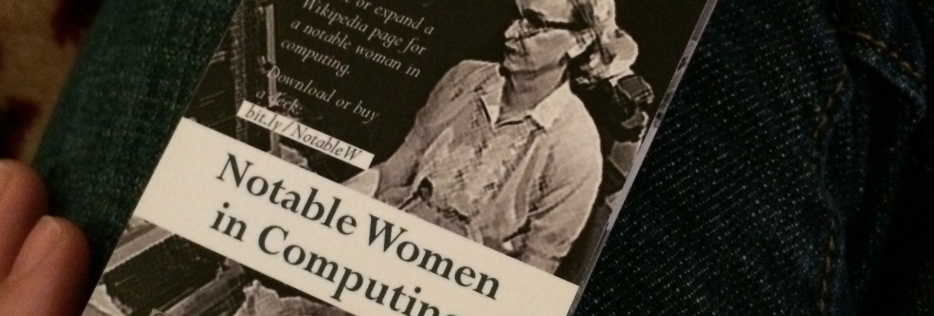 Rear Admiral Grace Hopper on the back of Notable Women in Computing playing cards, second edition.